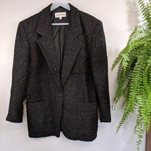 Vintage Liz Clairborne Black Blazer Jacket Size 8